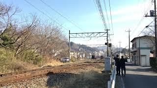 2019.2.24 秩父鉄道  C58 363 パレオエクスプレス 長瀞駅発車