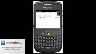 Celular BlackBerry 8520 no reconoce la tarjeta multimedia externa de memoria micro sd