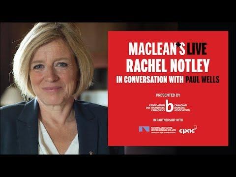 Rachel Notley in conversation with Paul Wells: Maclean's Live