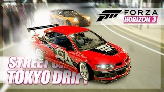 Forza Horizon 3 - Tokyo Drift Recreation! (Build & Drift Chase)