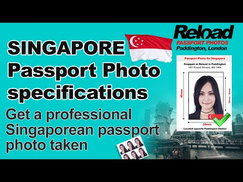 Get your Singaporean Passport Photo and Visa Photo for Singapore from Reload Internet in Paddington