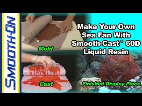 How to Make a Silicone Putty Mold and Resin Casting of a Sea Fan Using Aquarium Safe Plastic