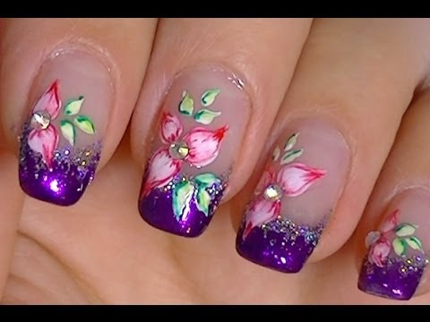 Simple Flower Made With Acrylic Paint And Watercolors Youtube