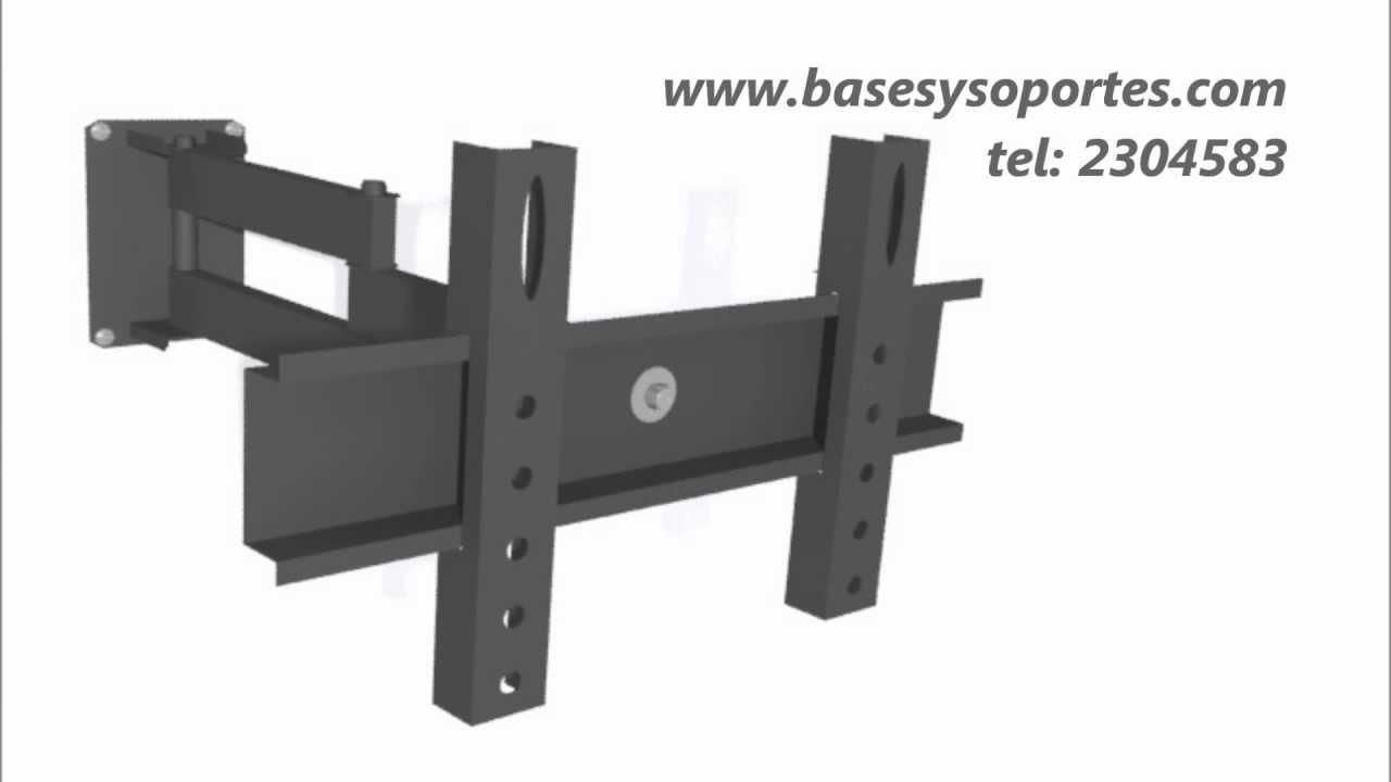 Resistente soporte de brazo giratorio escualizable led - Soporte tv giratorio ...