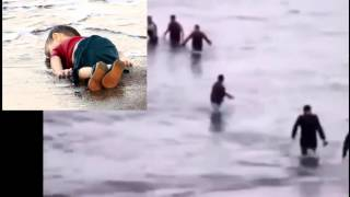 little boy from syria drowned, washed up on turkish shore (full video)