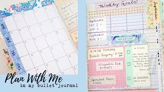 PLAN WITH ME  Bullet Journal Process |