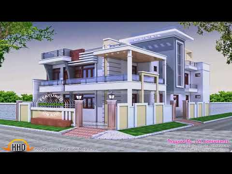 Kerala House Front Compound Wall Design Youtube