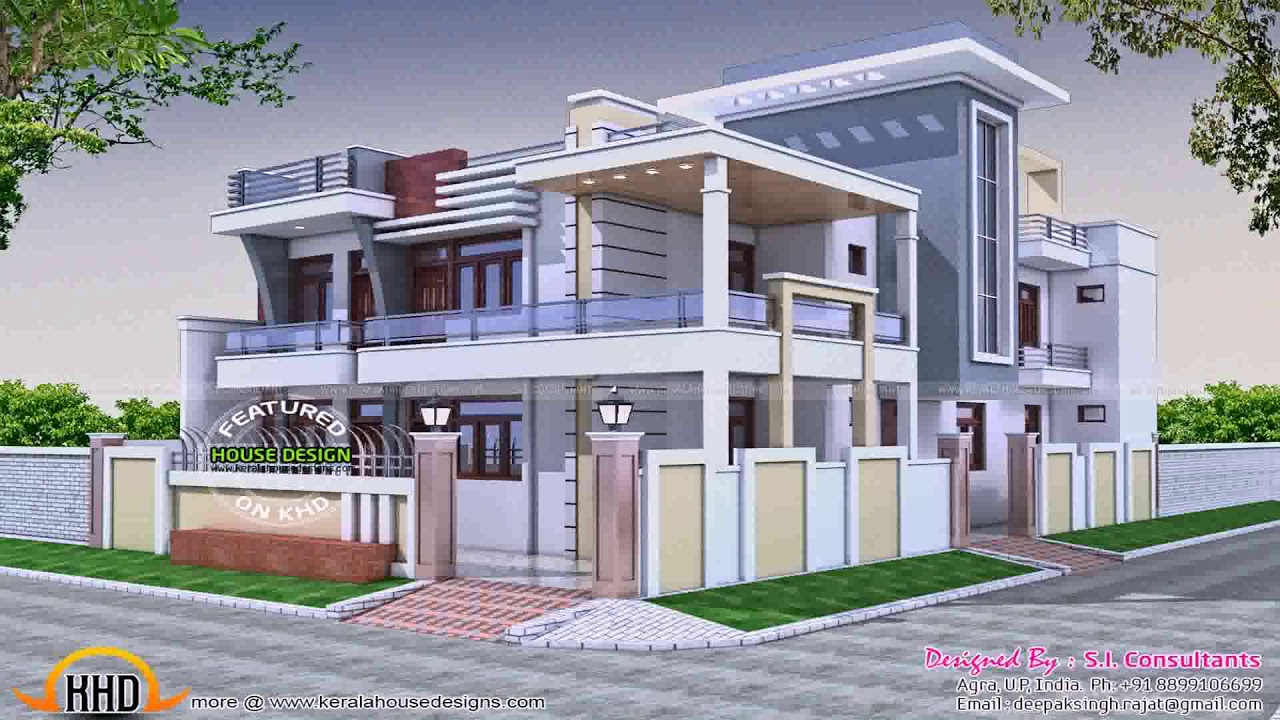 Kerala House Front Compound Wall Design - YouTube