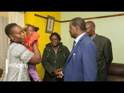 Moving images of Raila with Chris Msando's family