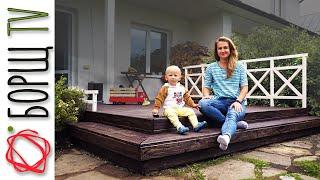 Как построить открытую террасу к дому своими руками