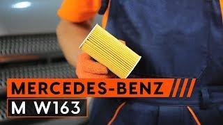 Kuinka vaihta moottoriöljy ja öljynsuodatin MERCEDES-BENZ M W163 -merkkiseen autoon