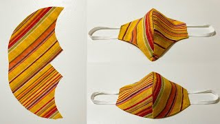 Very easy fabric Face mask new style pattern mask DIY mask making tutorial Diy face mask