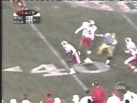 Jamar Fletcher picks off Cade McNown in Rose Bowl