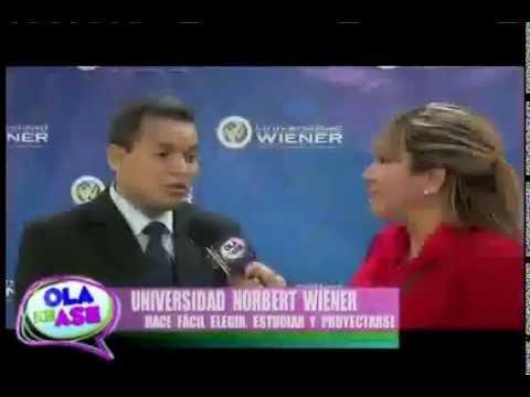 Dr Carlos Linares Weilg en programa Ola Ke Ase presentando las carreras de la Universidad Wiener