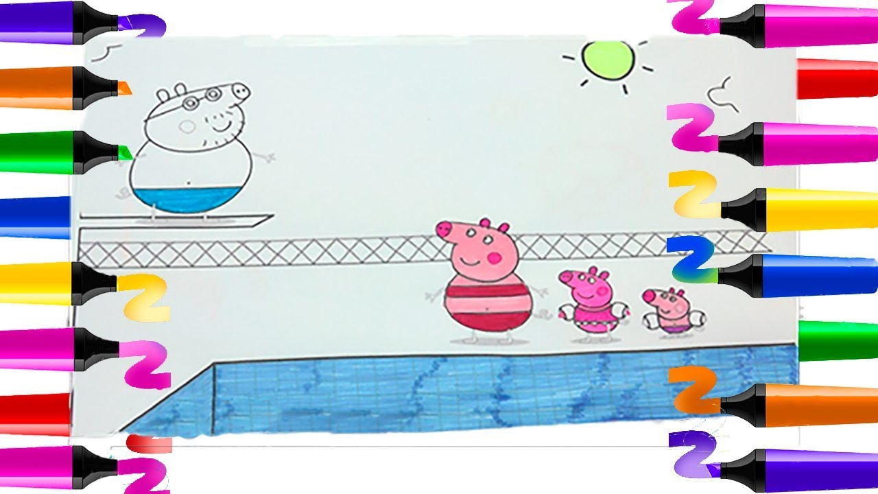 Coloriage Peppa Pig Piscine Coloriage99net