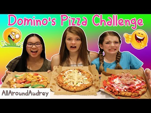 The Domino's Pizza Challenge ft. Hevesh5! / AllAroundAudrey