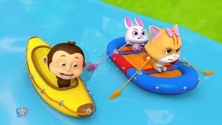 Alergarea Râului | Desene Animate Pentru Copii | Distracție Cu Animale | Loco Nuts | River Run