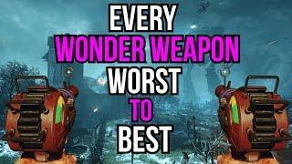 EVERY WONDER WEAPON RANKED WORST TO BEST (COD ZOMBIES)