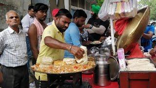 MOST SATISFYING CHOLE KULCHE in Mayapuri | Indian Street Food | Hmm
