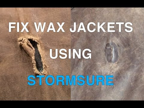 How To Fix Waxed Jackets with Stormsure Glue | BARBOUR DRIZABONE COAT REPAIR
