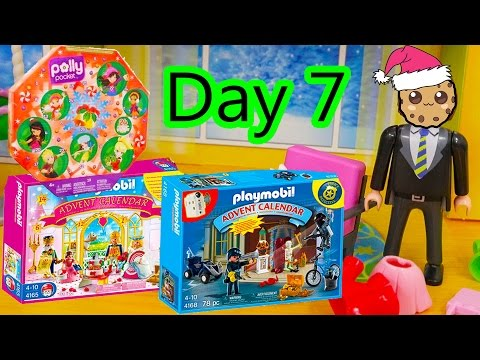 Polly Pocket, Playmobil Holiday Christmas Advent Calendar Day 7 Toy Surprise Opening Video