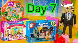 polly pocket playmobil holiday christmas advent calendar day 7 toy surprise opening video