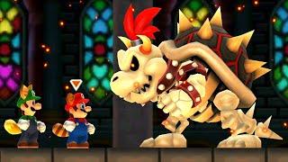 New Super Mario Bros. 2 - All Boss Battles (2 Player)