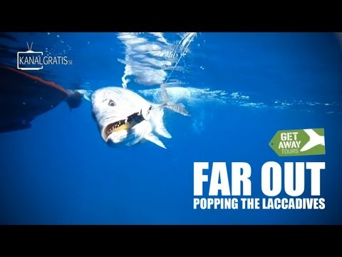 Far Out - Popping The Laccadives - Popper Fishing for Big GT's (Slow Motion, HD)