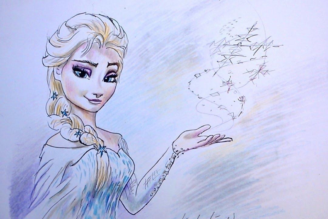 Zo Teken Je Elsa Van Frozen Kleur Potlood In Stappen Youtube