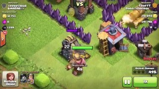 Clash of Clans - 300 WIZARDS TOTAL! Max Level 6 Wizards! Multiple Attacks! (Mass Gameplay)