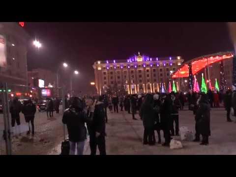 Новогодняя ночь г. Харьков (Площадь свободы).