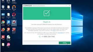 uninstall Comodo Internet Security Premium 11 in Windows 10 October 2018 Update