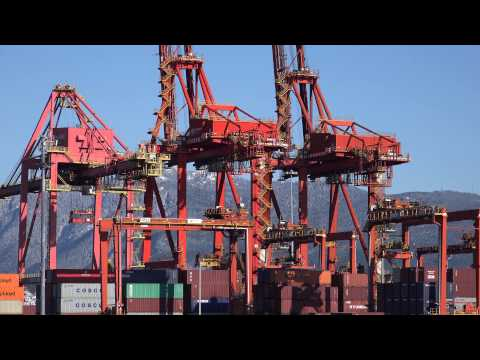 Port Metro Vancouver Container Terminal In 4K Resolution November 29 2014