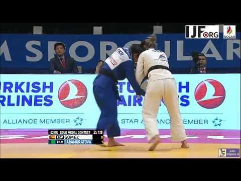 Judo 2016 Grand Prix Samsun: Gomez (ESP) - Babamuratova (TKM) [-52kg] final