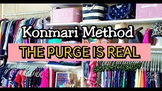 Konmari Method Purging And Organizing My Life (Clothing part 3)CPR4THEBODY