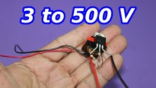 Miniature Voltage Booster. 3 to 500 V