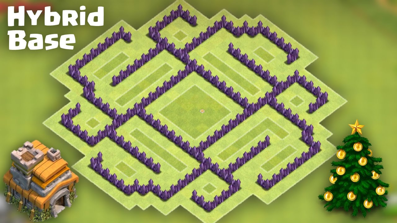 Town Hall 7 (TH7) Hybrid Base [Farming after Big Update ...