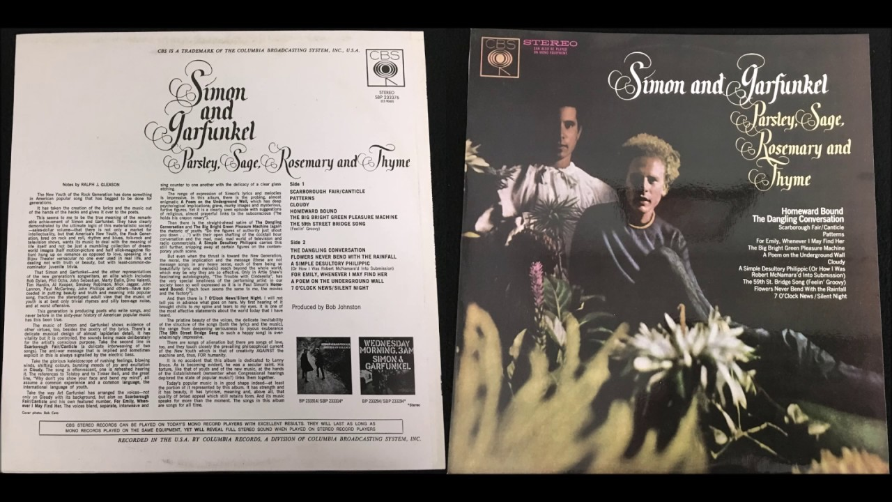 Simon And Garfunkel:Scarborough Fair/Canticle Lyrics