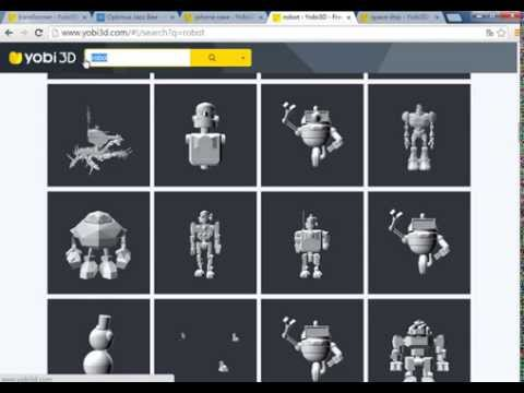 Yobi3d 3d model search engine youtube for 3d search engine