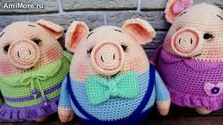 Амигуруми: схема Мини-пиги. Игрушки вязаные крючком - Free crochet patterns.