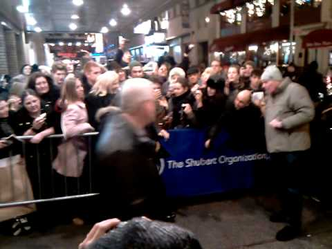 Al Pacino giving autograph after broadway show