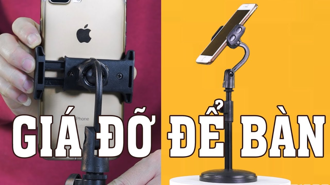 Giá đỡ để bàn cho điện thoại smartphone làm livestream bán hàng, xem phim GD-10