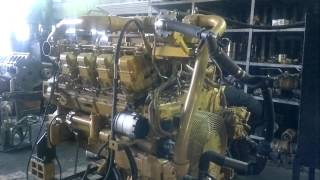 Пробний запуск і Обкатка двигуна Сaterpillar 3508 після капітального ремонту