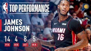 James Johnson HUGE Dunk vs. Pacers, Full Highlights | October 21, 2017