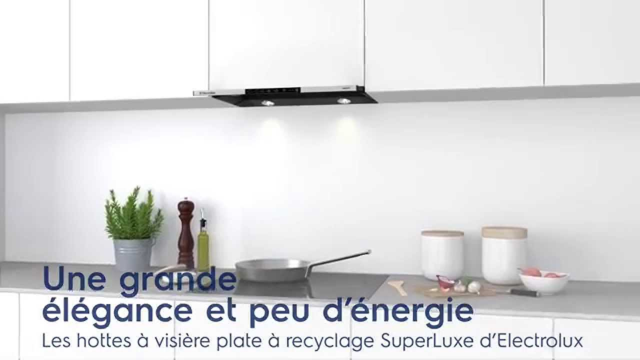 la hotte visi re plate recyclage d electrolux youtube. Black Bedroom Furniture Sets. Home Design Ideas