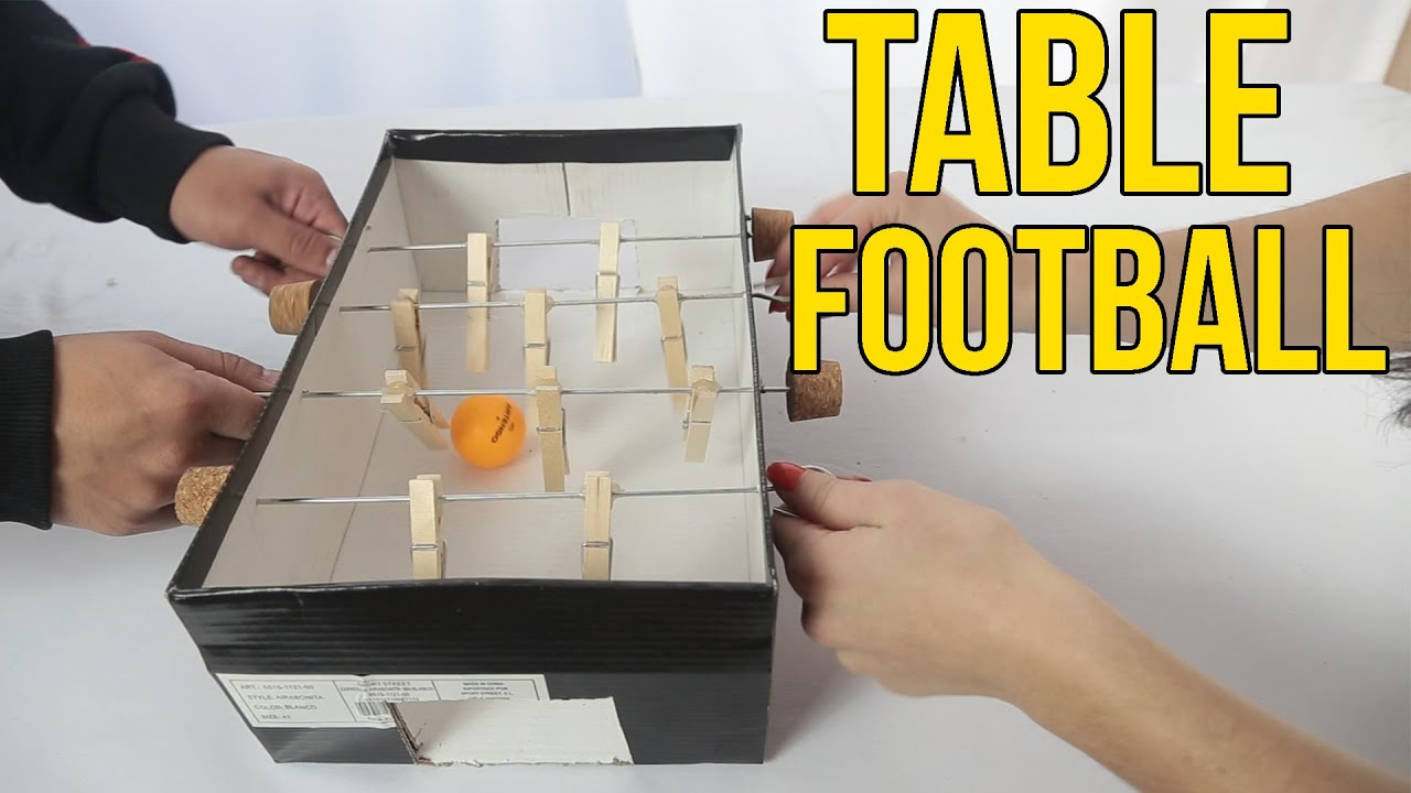 How To Make A Table Football With A Shoe Box  table top