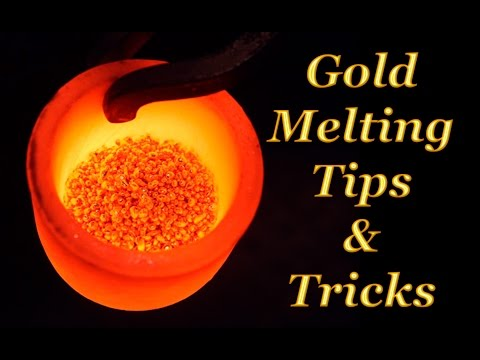 🔥GOLD MELTING, How To Melting Gold And Make Gold Ingot Bar.How To Melt Gold. Tutorial