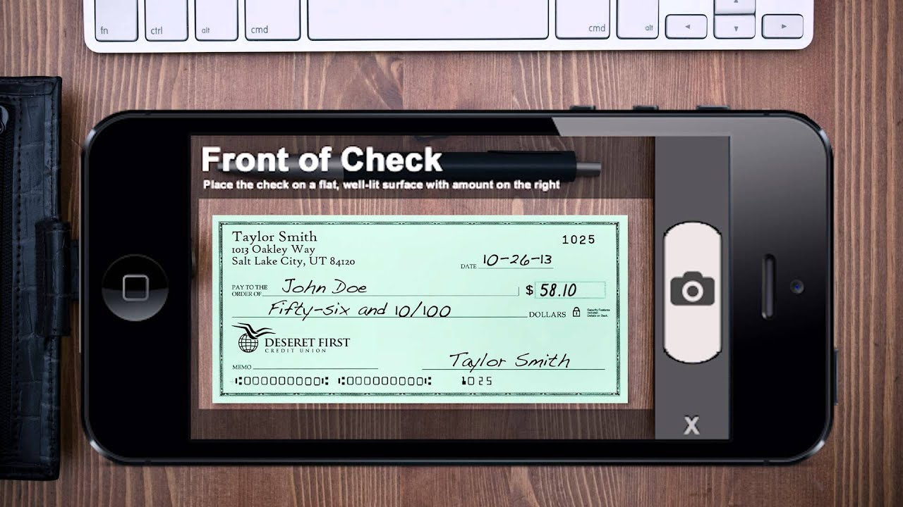 Mobile Check Deposit Tutorial -no Click Here-