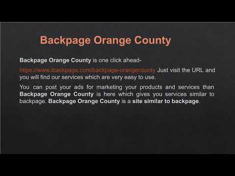 Backpage Orange County  Alternative To Backpage   Site Similar To Backpage   Ibackpage
