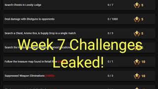 Fortnite | Week 7 Challenges Leaked! | Spoiler